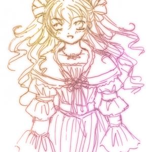 ラクガキ|巻き毛のお姫様