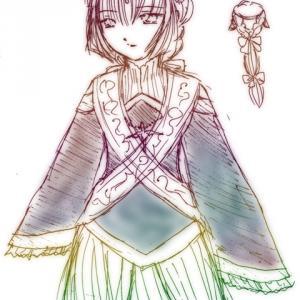 ラクガキ|暗黒聖女リステラ神子姫衣装