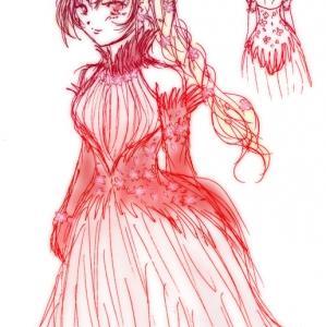 ラクガキ イリル姫パーティードレス