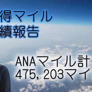 ANA獲得マイル 実績報告