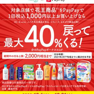 花王の商品をPayPayで購入で最大40%戻ってくる!
