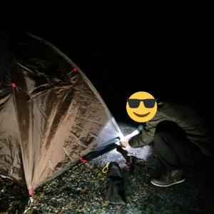 緊急速報!!初めてのソロキャンプ② 実践編 2020/1/31~2/1 某キャンプ場