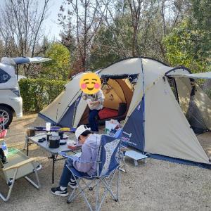 今年最初のファミリーキャンプ 『憩いの森公園キャンプ場』 その② 2020/3/21~22