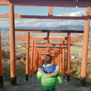 鳥居×91基 浮羽稲荷神社