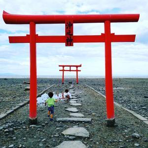 佐賀県太良町の海中鳥居