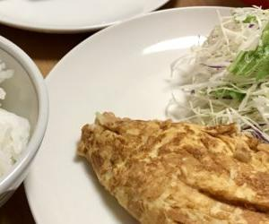 納豆オムレツ定食を作る