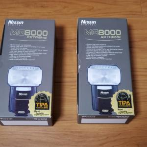 NissinのストロボMG8000を二台購入しました