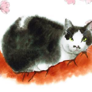 水彩のにじみで猫を描くってやつ