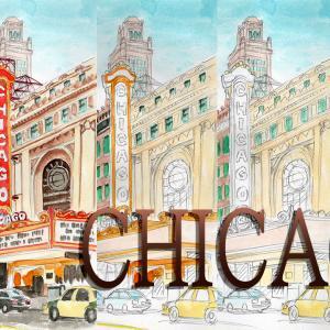 シカゴの風景スケッチの動画つくりました。