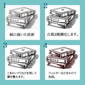 絵画・イラスト制作ご注文用【アンティークミニカット制作見本集】