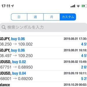 【週間FX成績】10/28−11/3(+2.0万円): 取引単位増加後に既存ポジションをどうするか問題