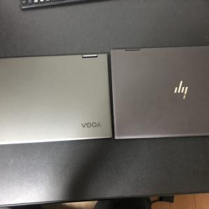 lenovo YOGA C740(15) VS HP ENVY  15  x360 コンバーチブルパソコン比較