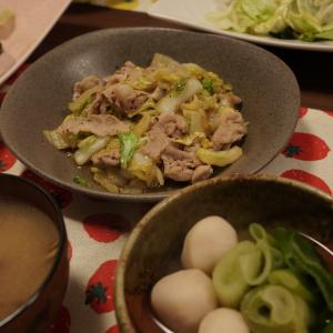 【豚バラの塩白菜炒め】2020.02.15