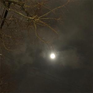 月と雪と つるつる路面
