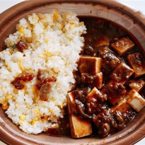 ローソンの重慶飯店監修麻婆炒飯は甘い炒飯と辛い麻婆豆腐のベストマッチ