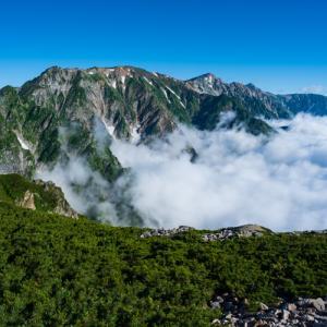 唐松岳トレッキング (3) - 丸山ケルンへ