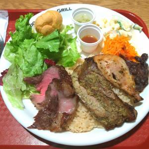 CIAL横浜内のブラジル料理店【リオ・グランデ・グリル】の3種のシュラスコプレート