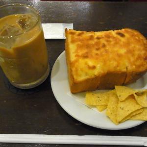 姫路のカフェ【カレ・ラ・ダダ】のアーモンドトースト