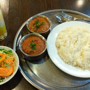 小田急相模原のインド・ネパール料理店【キングキッチン】の2種カレーセット