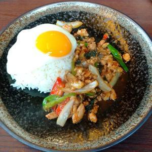 鶴川のアジア料理店【和ダイニング・知龍】のランチ、ガパオライス