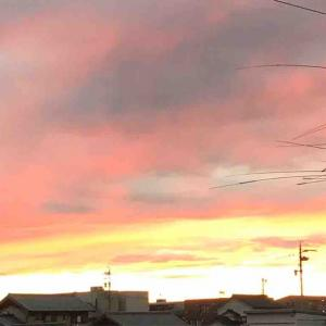 不思議な夕焼け