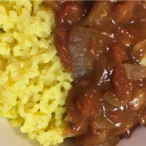 リベンジで万人うけに❤️炊飯器で同時に2品【トマトチキンカレー】