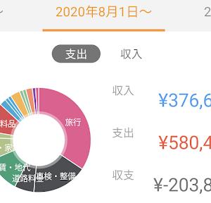 2020年月8月分の家計簿公開!!