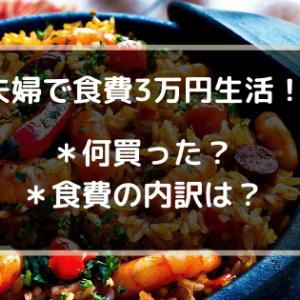 夫婦で食費3万円生活!実際の食費内訳と購入品まとめ