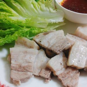 ヘルシオで韓国蒸し豚。