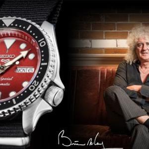 ブライアン・メイ、SEIKOから9,000本限定のコラボ時計「セイコー5スポーツ Brian May コラボレーション限定モデル」を発売 「レッド・スペシャル」にインスパイアされた数量限定モデル