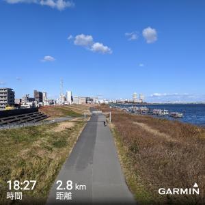 年末年始最終日30キロ走その2