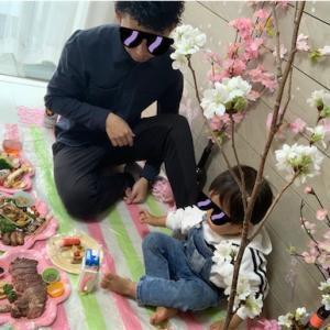 パパのお誕生日はおうちdeお花見!!〜家の中でとことんお花見気分を〜