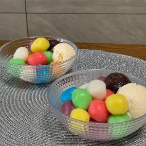 余ったかき氷シロップとだんご粉だけ♬十五夜前にカラフルなお団子を作ってみた★