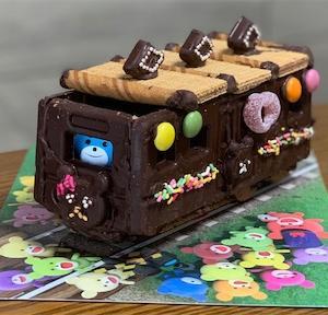 ブルボン「プチクマのお菓子のでんしゃ」を3歳の子どもと作ってみた★