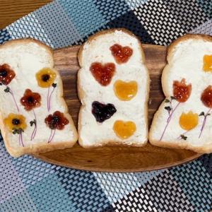 食と図工の融合「トーストアート」3歳児と作ってみた★