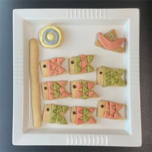 2021端午の節句・こどもの日パーティ❤︎鯉のぼりクッキー&りんごの薔薇フルーツタルトでお祝い❤︎