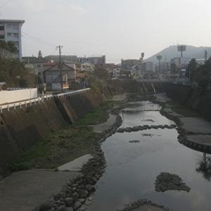 浦上川に流れた精霊船