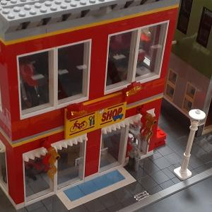 LEGO作品【二輪屋さん】