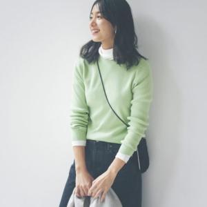 きれい色リブニット& 重ねても着映える華ブラウス★女性ファッション雑誌「LEE」