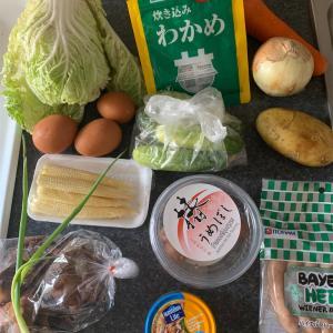 八宝菜、ポトフ、キュウリとシーチキンの梅和え