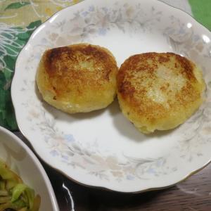 【今日の食卓】ラム肉の野菜炒め、じゃがいものお焼き