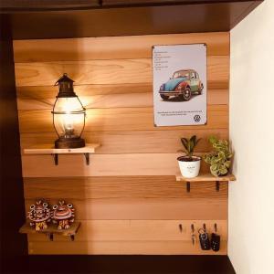 玄関の壁をガラッとイメチェン!カフェ風な雰囲気を作ってみた☆