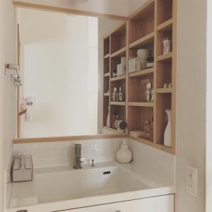 洗面台は、毎日磨く!コスパ最高の、掃除グッズを新品に交換。