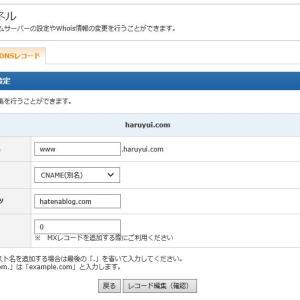 DNSレコード設定できた!