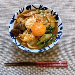 【レシピ】名古屋めし!入れて煮るだけカレー味噌煮込みきしめん♪