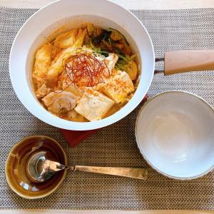 【レシピ】お一人ランチ♪残り野菜でキムチチゲ