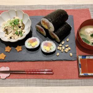【レシピ】節分♪手作り恵方巻きと鮭と鶏のつくね汁