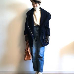 ベレー帽&デニム&靴下合わせで、真冬もお洒落であったかコーデ3選