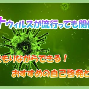 【新型コロナウィルス】外出を控えたい東京都民に向けて〜家で出来る自己啓発・暇つぶし