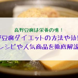 高野豆腐ダイエットはどのくらい効果あり?レシピや話題の商品まで徹底解説